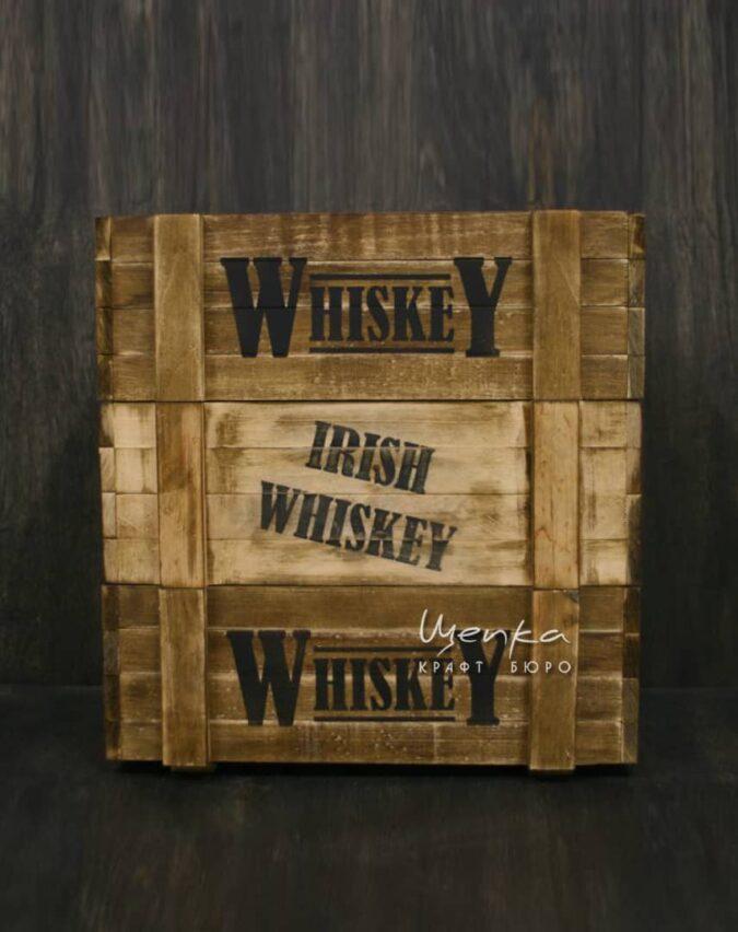 Деревянный ящик Whiskey